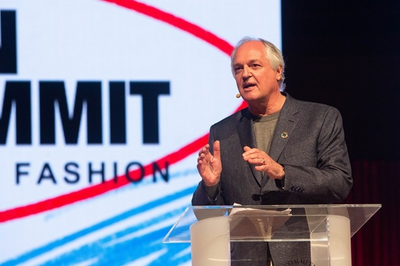 Paul Polman leverede en tale, som høstede både massive klapsalver og tårer fra salen. Foto: Global Fashion Agenda / Copenhagen Fashion Summit